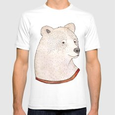 Señor Oso White Mens Fitted Tee MEDIUM