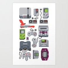 A Pixel of my Childhood Art Print