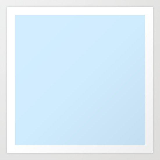 Frost Blue Art Print