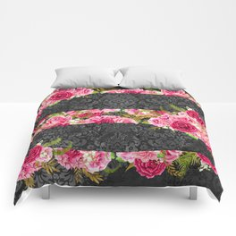 Pink Roses Pattern 10 Comforters
