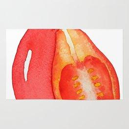 red grape tomato Rug