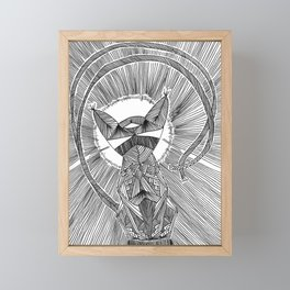 Felis Umbra Framed Mini Art Print