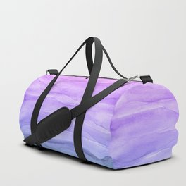 Abstract Watercolor Layers - Purple Ombre Duffle Bag