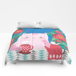 Spring Cat Comforters
