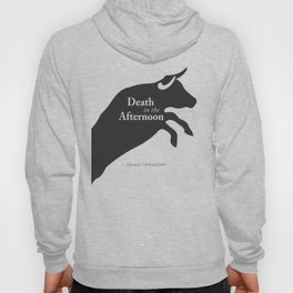 Ernest Hemingway book cover & Poster, Death in the Afternoon, bullfighting stories Hoody