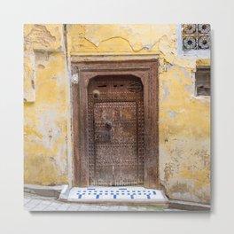 Number 23 - Doorways of Fes, Morocco Metal Print
