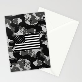 Camo Proud American Flag Stationery Cards