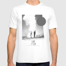 Love Is To Die | Collage White Mens Fitted Tee MEDIUM