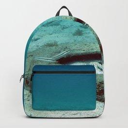 Watercolor Human Impact, Trash 10, Tire Backpack