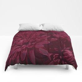 Burgundy Chrysanthemums Comforters