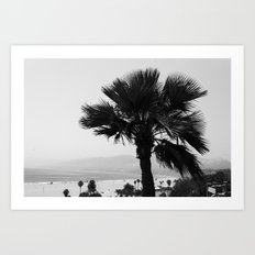 LA Palm tree Art Print