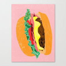 Burger, 2013. Canvas Print