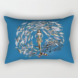 Mermaid in Monaco Rectangular Pillow