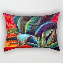 WESTERN DESERT BLUE AGAVE Rectangular Pillow
