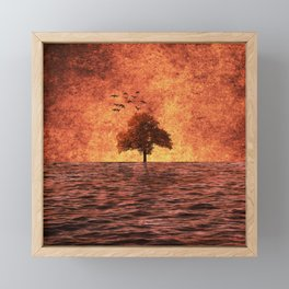 The sea of fire Framed Mini Art Print