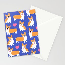 I Love Corgis Cute Pattern Stationery Cards