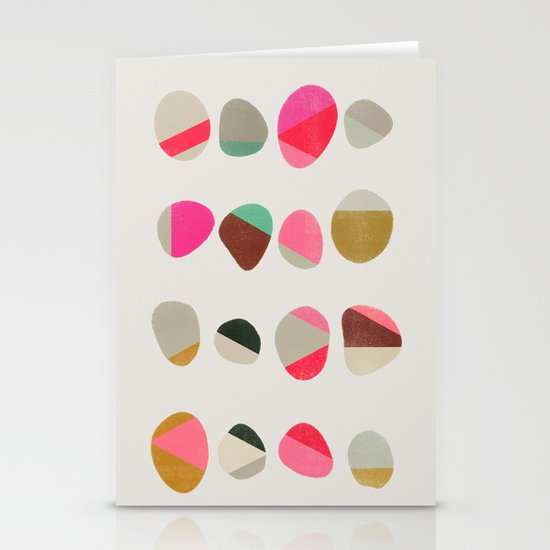 painted pebbles 1 Stationery Cards