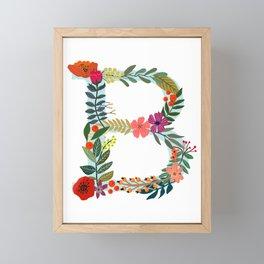 B Monogram Letter Abecedary Framed Mini Art Print