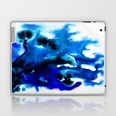 Paint 8 abstract indigo watercolor painting minimal modern canvas art affordable home decor trendy Laptop & iPad Skin