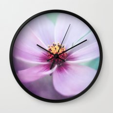 BEAUTY OF THE FOREST - PINK COSMEA FLOWER Wall Clock
