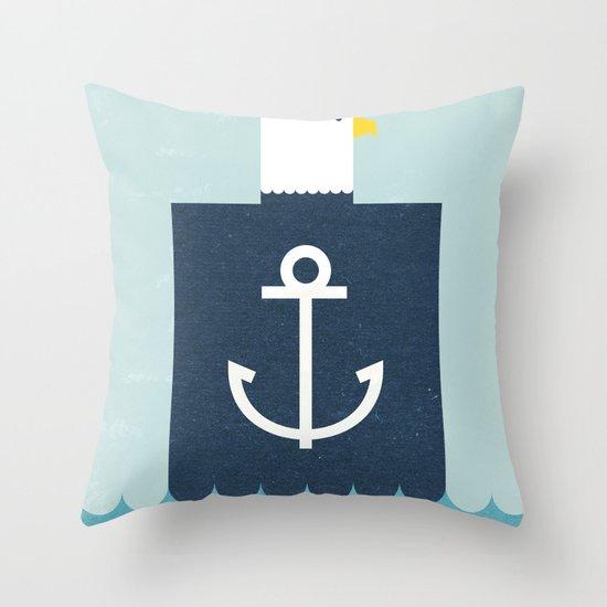 Eagle Captain Throw Pillow
