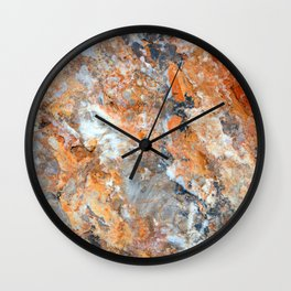 Rusty Rock Textures 47 Wall Clock