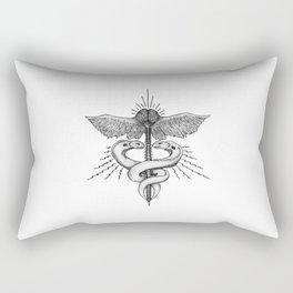 Neuroelectric Caduceus Rectangular Pillow