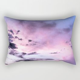 fly up to the blue pink sky Rectangular Pillow