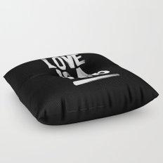 Love Is A Verb Floor Pillow