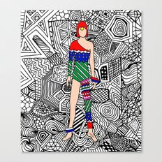 Bowie Fashion 7.5 Canvas Print