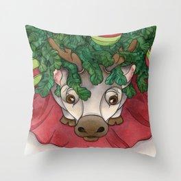 Baby Reindeer Throw Pillow
