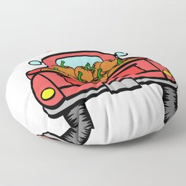 """A Nice Picking Tee For A Picky You Saying """"Pick Of The Patch"""" T-shirt Design Pick-Up Car Pumpkin Floor Pillow"""