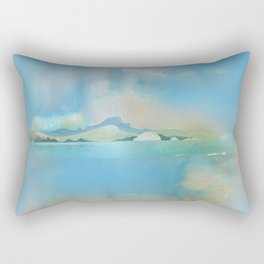 The Sacred Place From the Harbor Rectangular Pillow