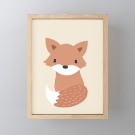 Woodland Animal - Fox Framed Mini Art Print