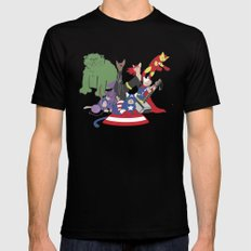 The Catvengers - Earth's Mightiest Kitties Black LARGE Mens Fitted Tee