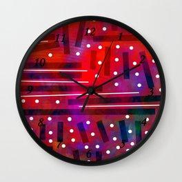 White Polka Dot Wall Clock