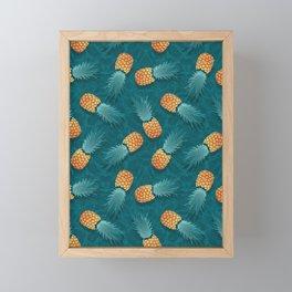 Pineapples swimmers I Framed Mini Art Print