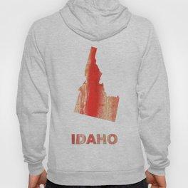 Idaho map outline Burnt sienna watercolor Hoody