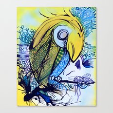 Pattern Parrot Canvas Print