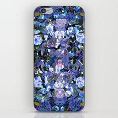 Blue Spot Floral iPhone & iPod Skin