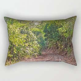 The curve in the rail Rectangular Pillow