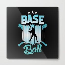 Baseball Sport Home Run Player Hobby Shirt Design Metal Print