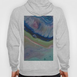 Fluid Nature - Gentle Shores - Abstract Acrylic Pour Art Hoody
