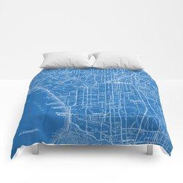 Los Angeles Street Map Comforters