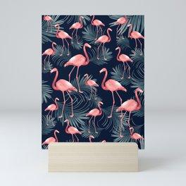 Summer Flamingo Palm Night Vibes #1 #tropical #decor #art #society6 Mini Art Print