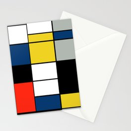Piet Mondrian - Large Composition A with Black, Red, Gray, Yellow and Blue, 1930 Artwork Stationery Cards