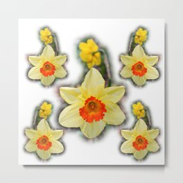 Daffodils in the Woods Metal Print