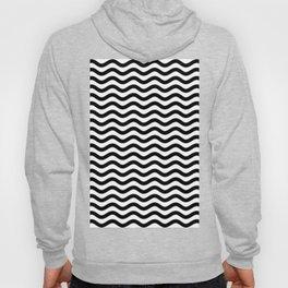 Waves (Black & White Pattern) Hoody