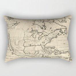 North America Map (1722) Rectangular Pillow