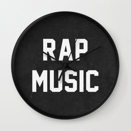 Rap Music Wall Clock